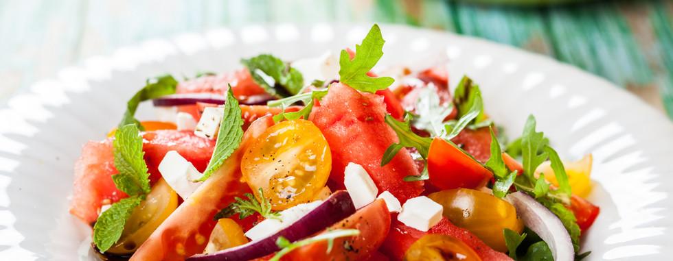 Salada de tomate fresco