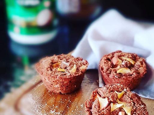 Muffins de Maçã, com Gengibre e Canela