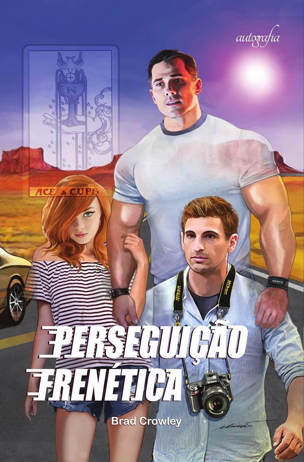 Capa do livro Perseguição Frenética, de Brad Crowley