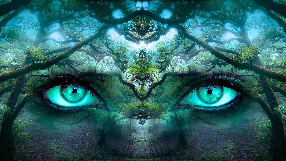 olhos verdes, um conto de terror da escritora Raquel Cantarelli
