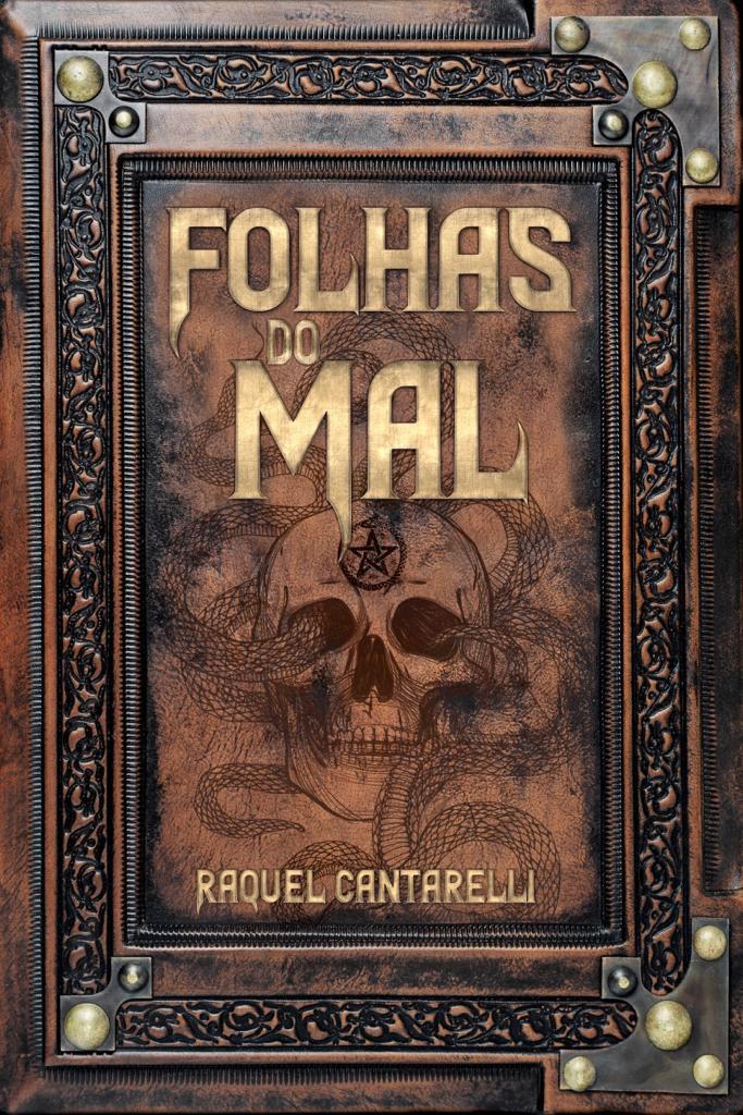 Capa do livro Folhas do Mal, de Raquel Cantarelli