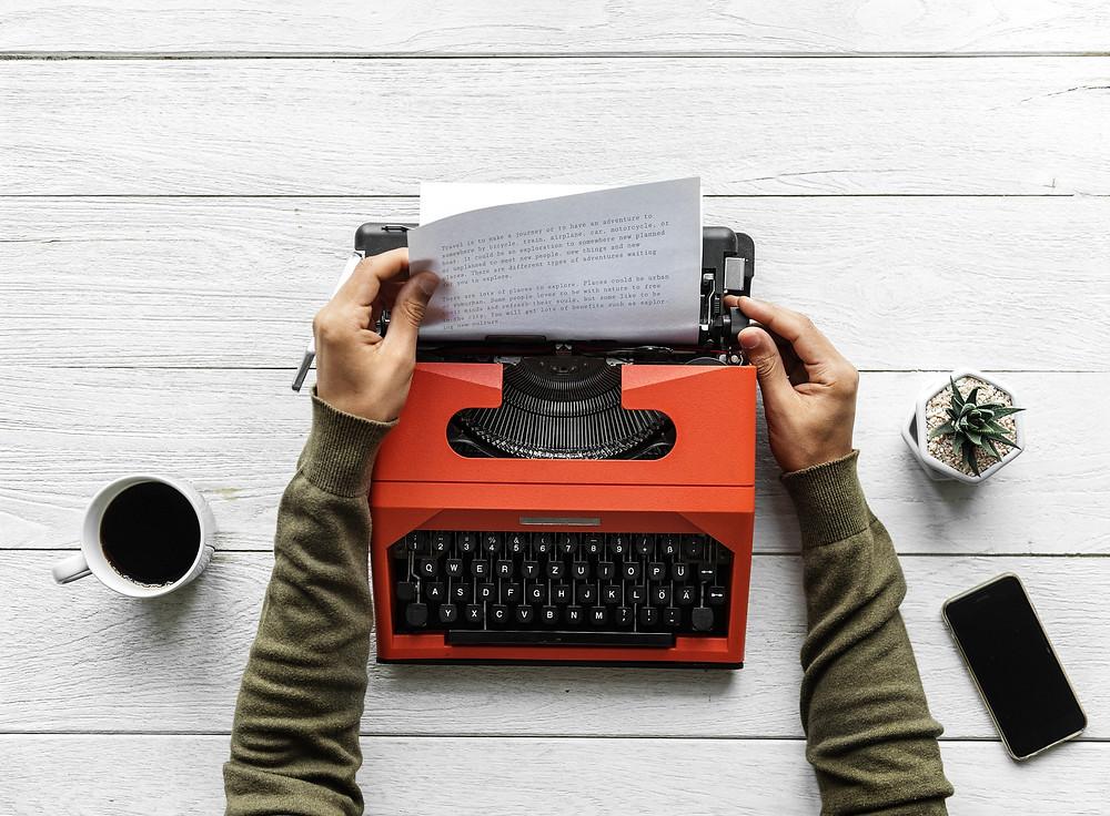 escrita de romance ficção
