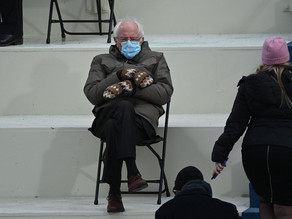 Bernie Sanders Inauguration Mittens steal the show...as they should!