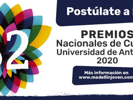 Postúlate a los Premios Nacionales de Cultura Universidad de Antioquia