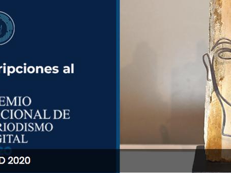 Abiertas las Inscripciones para el Premio Nacional de Periodismo Digital