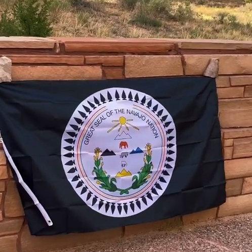 Navajo Nation Seal Flag (Colored)