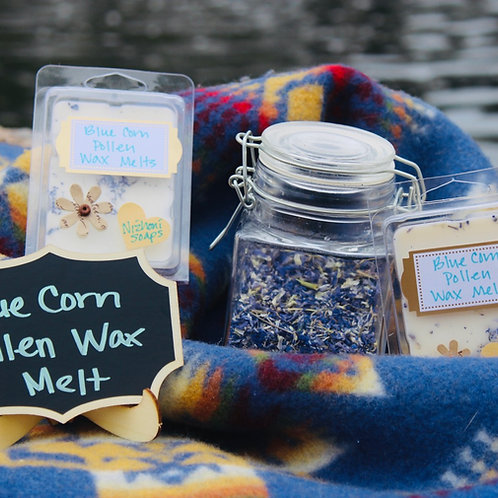 Reimagined Blue Corn Pollen Wax Melts with Hyacinth