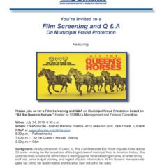 July 24: Film Screening and Q&A on Municipal Fraud Protection
