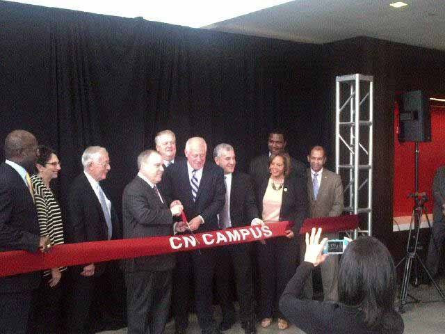 CN CEO Claude Mongeau, Gov Quinn&Rep Kelly officially open CN's Homewood Training Center. CN employs 1700 in Illinois. Photo  courtesy of Patrick Waldron of CN.