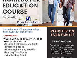 South Suburban Housing Center's Virtual Homebuyer Education Course