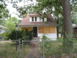 vacant Gary home