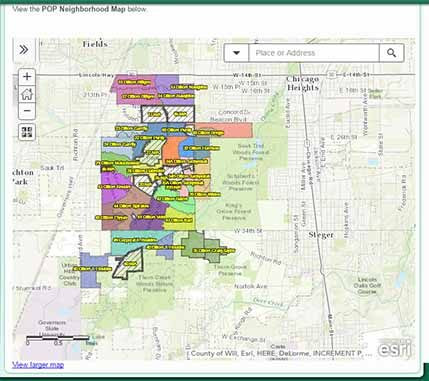 problem oriented policing map