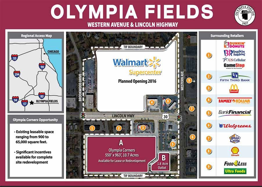Olympia Fields dev op at Western and Rt 30
