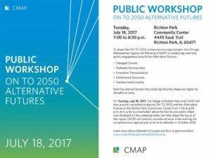 July 18: Public workshop to learn about/provide feedback on On To 2050 Alternate Futures