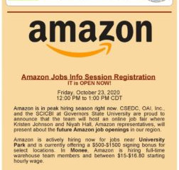 Amazon jobs info session registration is now open