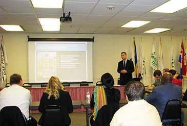 Ronald Lanz of Land Visions facilitates discussion at the kickoff meeting