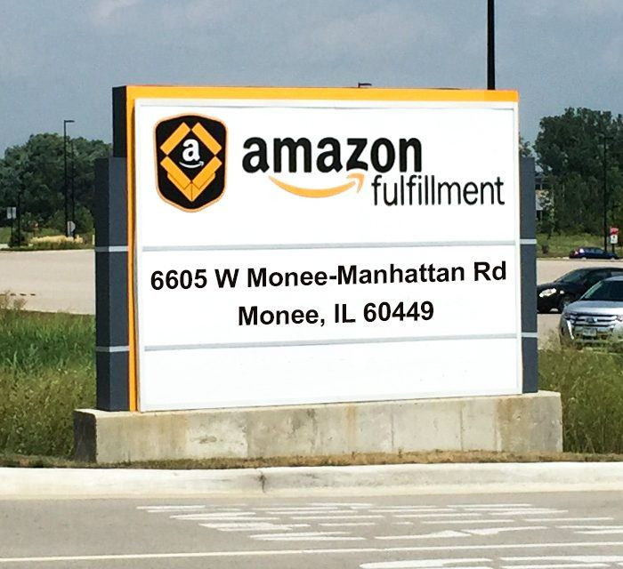 The Monee Amazon Warehouse Fulfillment Center was the latest in a series of investment deals by Amazon as it recently built a network of distribution centers in the Chicago area to meet the growing demand for online shopping. Photo courtesy of the Village on Monee.