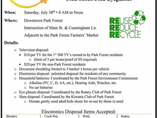 July 30: Growing Green Recycle Fest in Park Forest