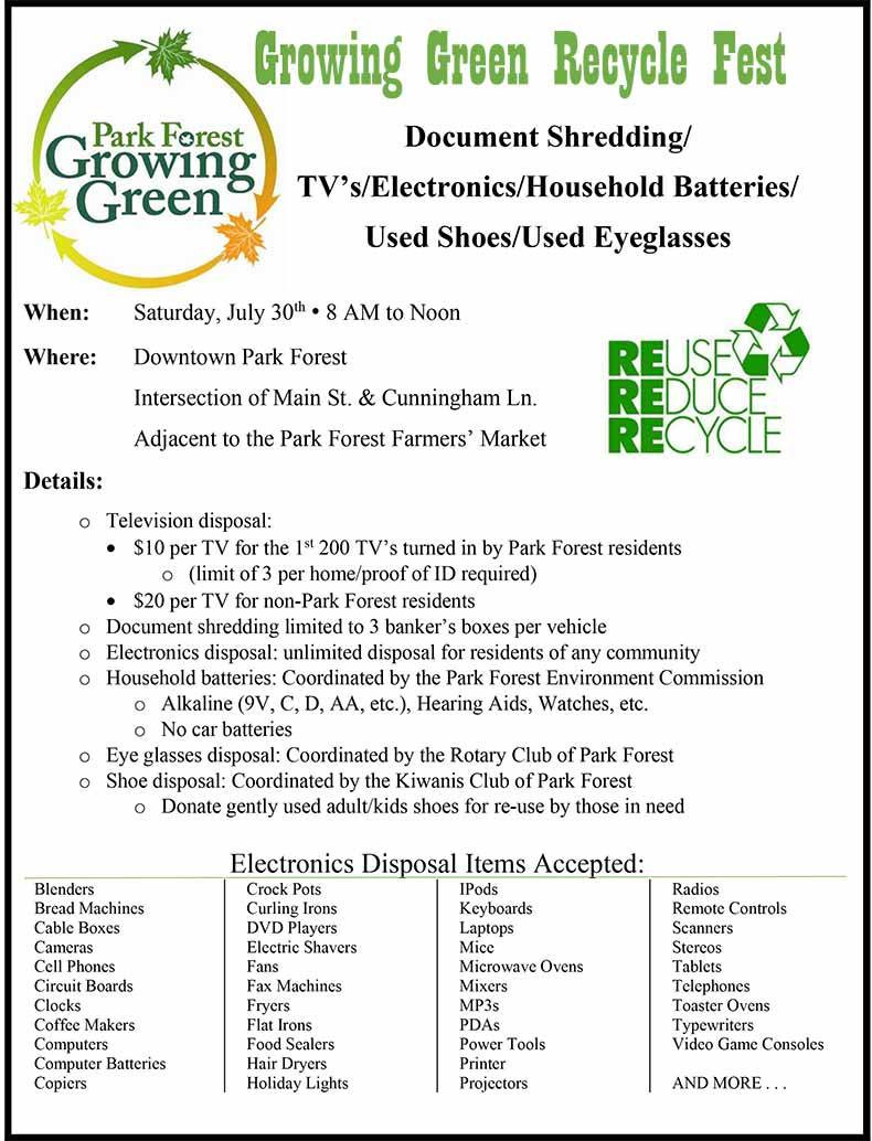 Growing Green Recycle Fest