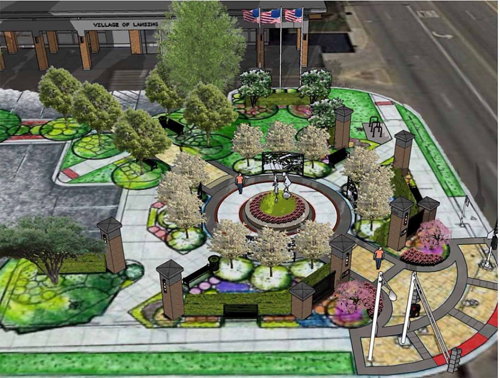 Rendering of History Plaza by  JMA Architects
