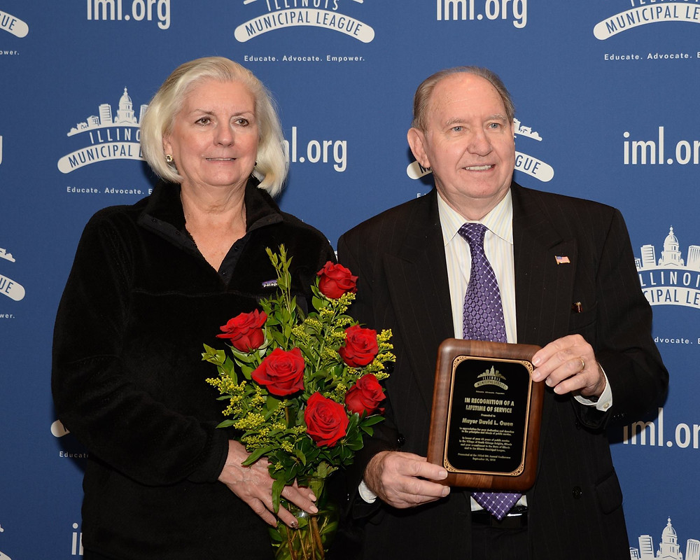 Mayor Owen was recognized at the IML Annual Conference with a Lifetime of Service award for his 42 years of public service.