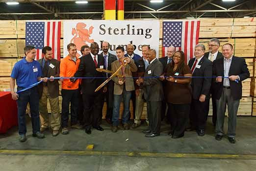 Sterling Lumbeer Ribbon Cutting 12/20/2013