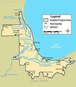 Chi-Cal Rivers Fund Geographic Focus Map