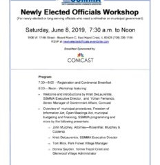 Congratulations to returning and newly elected officials; watch for upcoming municipal workshop