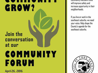 April 26: Cook County community forum in South Holland