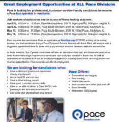 April 27 & May 11: Pace hiring events in Markham