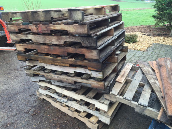 Pallets for Free Range Chicken House