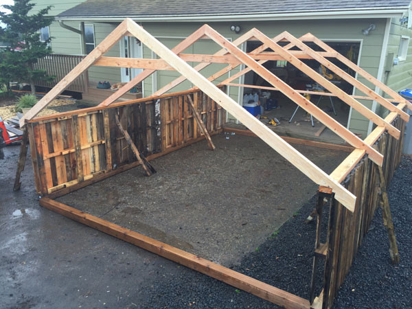 Trusses on Hen House
