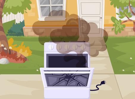 Macho Curses an Oven