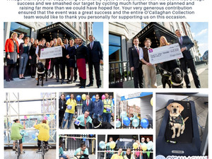 45K raised for Irish Cancer Society, Irish Guide Dogs for the Blind, and Irish Hospice Foundation