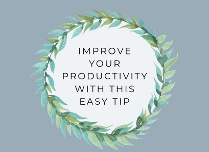 How to double your productivity overnight!