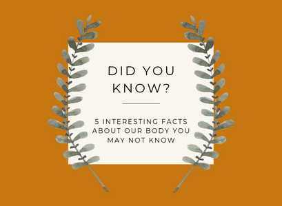 5 Interesting Facts About Our Body You May Not Know