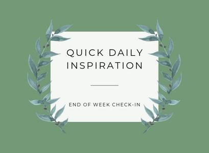 End Of Week Check-In