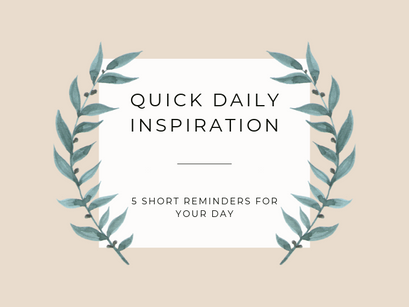 5 short reminders you need to read today!