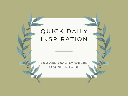 Quick Inspiration To Boost Your Mood