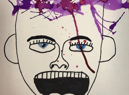Cedar's Health Class paints Expressionist Self-Portraits