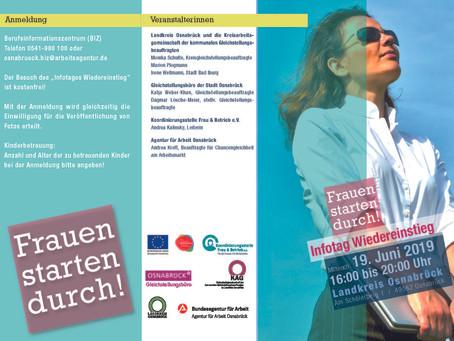 """""""Frauen starten durch"""" - Infotag zum beruflichen Wiedereinstieg in Osnabrück"""