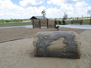 Log at Friedman Park Play Garden