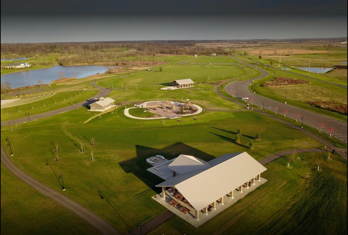 Friedman Park Shelters Aerial