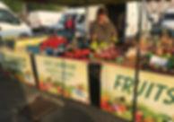 sandrine fruits et légumes sur les marchés