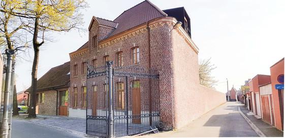 Mariënstede - Verbouwen van een conciërgewoning naar een kaasmakerij met  3 appartementen - Dadizele