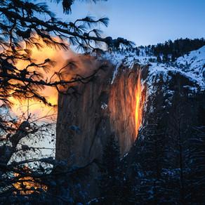 Firefalls of Yosemite National Park