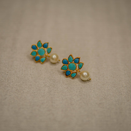 Lotus cobalt and Turquoise