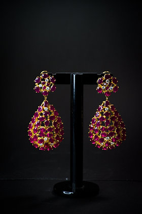 Heated Rubies Earrings