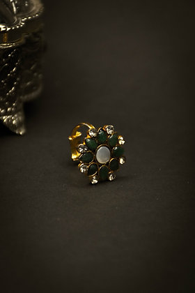 Green Jade - Mother of Pearl | Ring