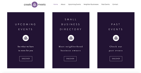 Creek Meets - Small Business Website Design by Think BIG